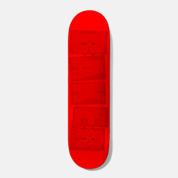 Baker Skateboards Reynolds Brand Name Red Tonal Skateboard Deck - 7.875""