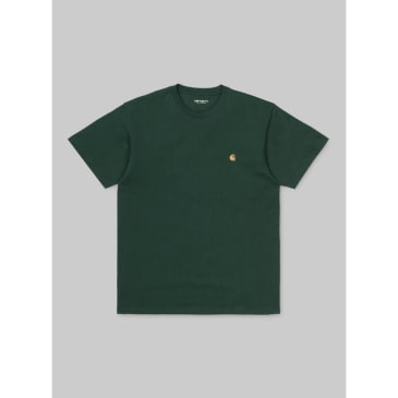Carhartt WIP - Chase T-Shirt - Treehouse/Gold