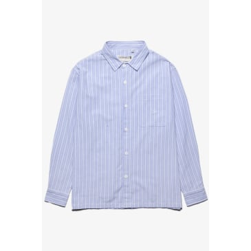 Overall Union - Box Button Down Shirt - Blue