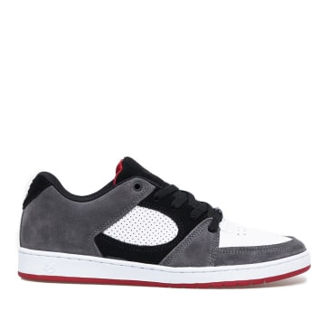 éS Accel Slim Skate Shoes - Grey / White / Red
