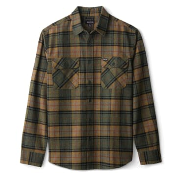 Bowery L/S Flannel   Evergreen