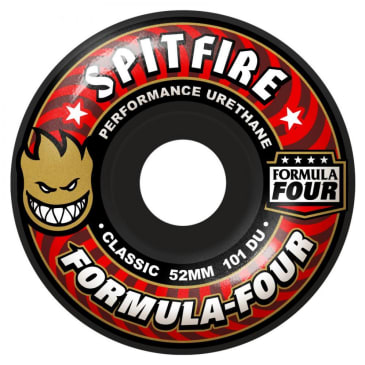 Spitfire Wheels - Spitfire Formula Four Classic Skateboard Wheels Black 101DU | 52mm