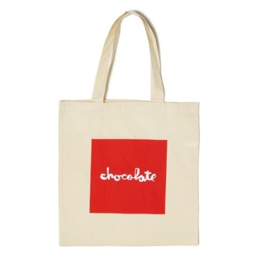 Chocolate Skateboards - Red Square Tote Bag