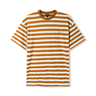 """BUTTER GOODS- """"HUME STRIPED T-SHIRT"""" (BROWN)"""