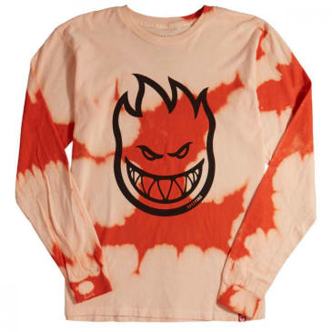 Spitfire Bighead L/S T Shirt Orange Wash/Black