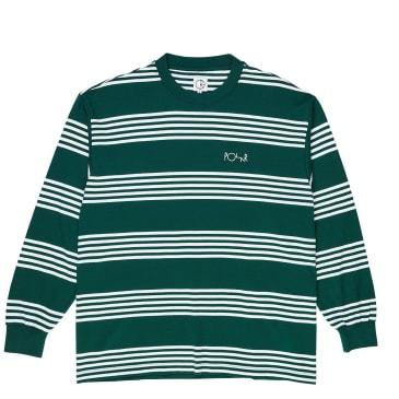 Polar Skate Co Striped Long Sleeve T-Shirt - Dark Green