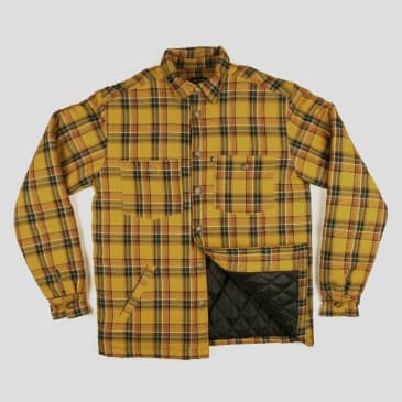 """PASS~PORT """"LATE QUILTED FLANNEL"""" JACKET MUSTARD"""