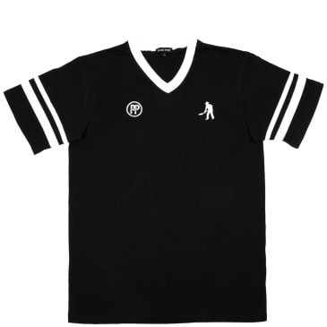 Pass~Port Workers Stripes Jersey - Black / White