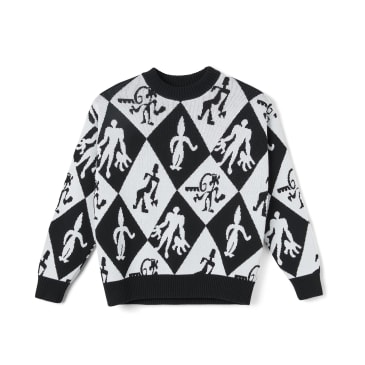 Polar Skate Co Emile Knit Sweater - Black / White