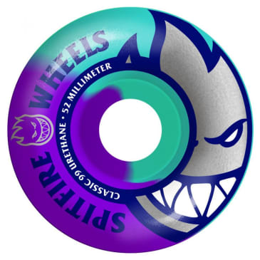 Spitfire Bighead Teal/Purple Swirl Wheels - 52mm