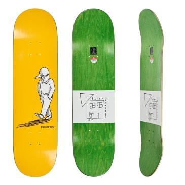 "Polar Skate Co. Dane Brady Alone Yellow Skateboard Deck - 8.25"""