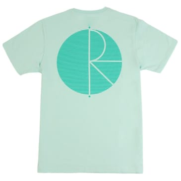 Polar Skate Co. Fill Logo 'Behind The Curtain' T-Shirt - Pastel Mint - Green