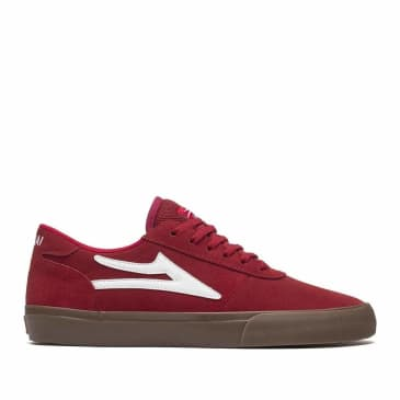 Lakai Manchester Suede Skate Shoes - Red / Gum