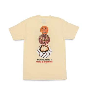 Quartersnacks Smokers Warning Snackman T-Shirt - Natural
