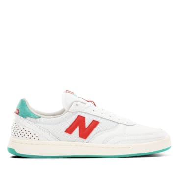 New Balance Numeric 440 Tom Knox Skate Shoe - White / Aqua