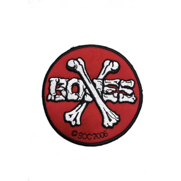 Bones Wheels Iron on Patch Red