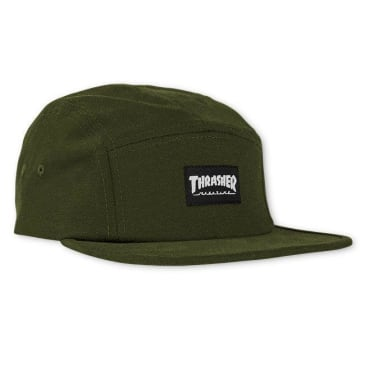 Thrasher 5 Panel Hat - Army