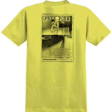 ANTIHERO Freeform Tee Yellow/Black