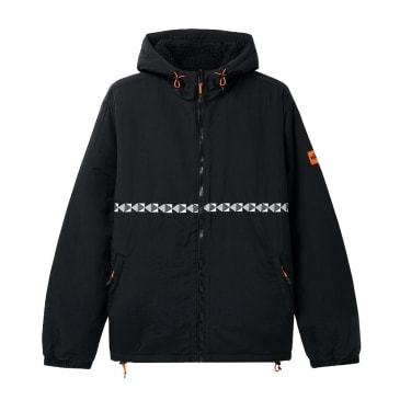 Butter Goods Base Camp Reversible Sherpa Jacket - Black / Black