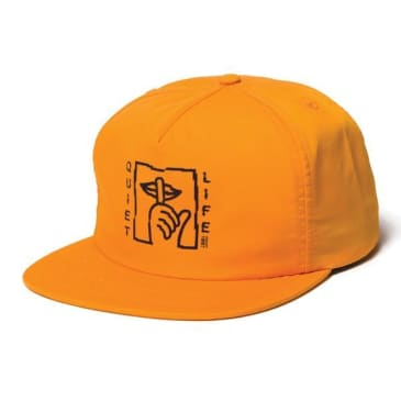 "THE QUIET LIFE- ""SHATTER RELAXED SNAP BACK HAT"" (ORANGE)"