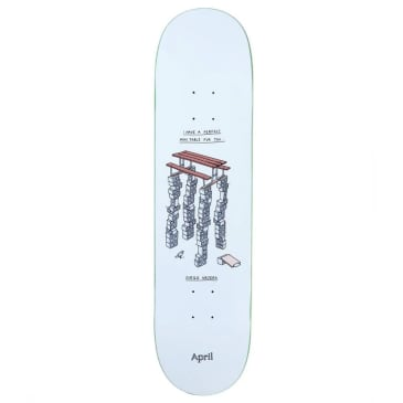 "April Skateboards - Diego Najera Perfect Mini Table Deck 8.25"" Wide"