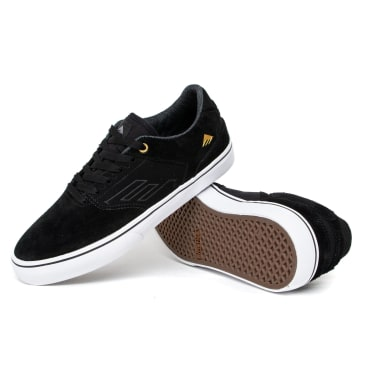 Emerica The Low Vulc Shoes - Black/White/Gold