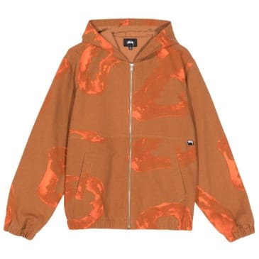 Stussy Printed Canvas Work Jacket Clay