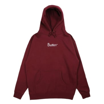 Butter Goods Embroidered Classic Logo Pullover Hoodie (Burgundy)