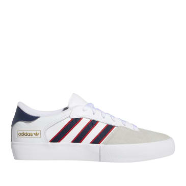 adidas Skateboarding Matchbreak Super Shoes - Cloud White / Collegiate Navy / Scarlet