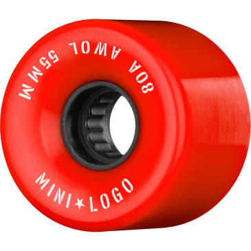 Mini Logo Wheels AWOL Red 80a 55mm