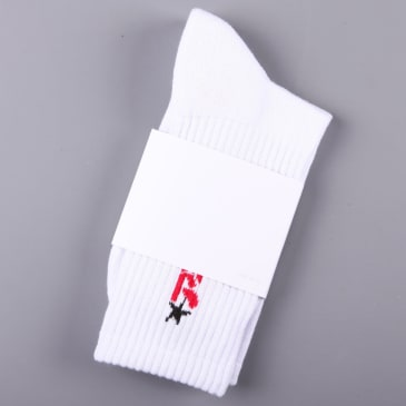 Polar 'Star' Socks (White / Red)