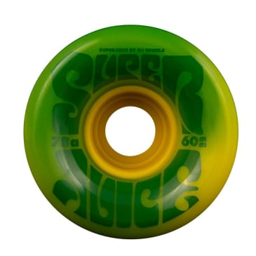 OJ 60mm Super Juice Wheels Green/Yellow Swirl