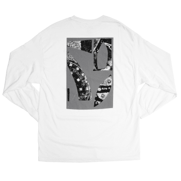 Isle Skateboards - Pavement Long Sleeve T-Shirt - White