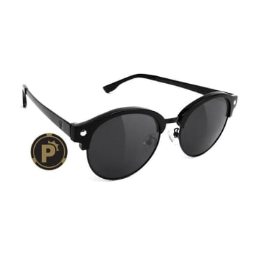 Glassy - Paul Polarized Sunglasses - Matte Black/Black