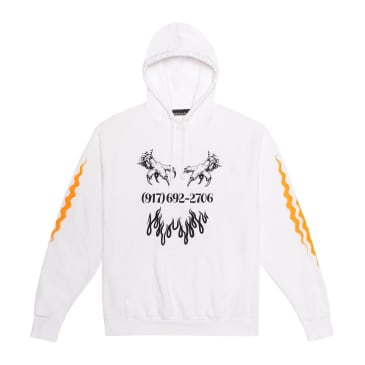 Call Me 917 Matrix Pullover Hoodie - White