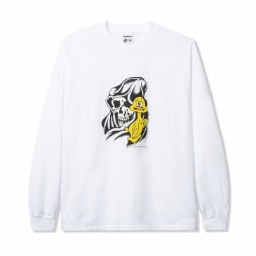 Powers Who Me Long Sleeve T-Shirt - White