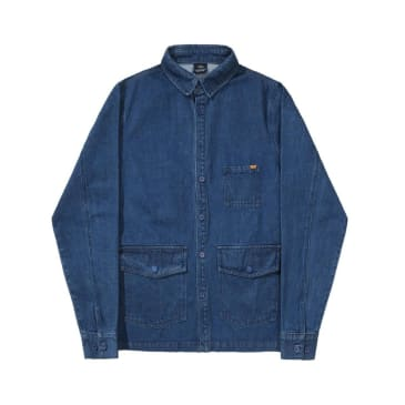 Helas Denim Overshirt Jacket - Blue