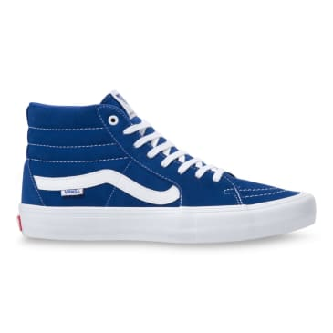 Vans Sk8 Hi Pro Skate Shoes - True Blue / True White