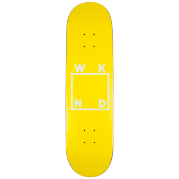 WKND - Yellow Logo Board Skateboard Deck - 8.0"