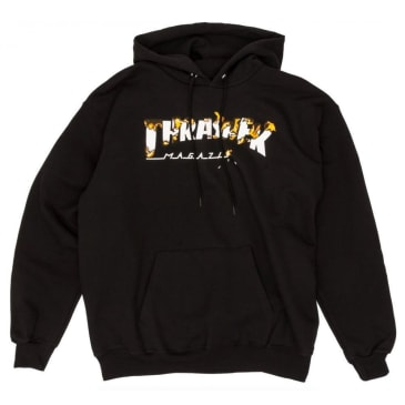 Thrasher Burner Intro Hoodie Black