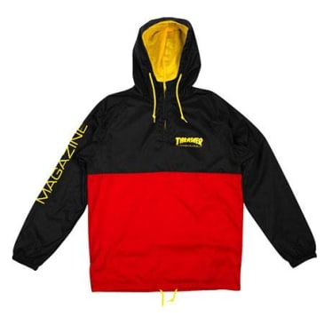 THRASHER MAGAZINE LOGO JACKET - BLACK / RED