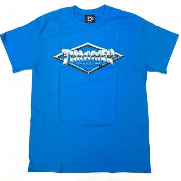Thrasher Skateboard Magazine Diamond Emblem T-Shirt - Sapphire