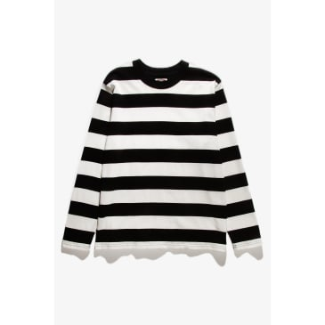 Red Ruggison Border Long Sleeve T-Shirt - Black / White