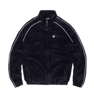 Magenta Velour Sport Jacket - Black