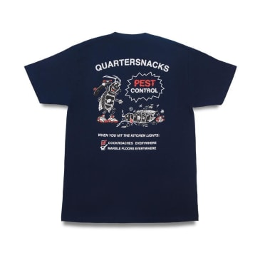 Quartersnacks Pest Control T-Shirt - Navy
