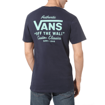 Vans Holder ST Classic T-Shirt - Dress Blues-Dusty Jade Green