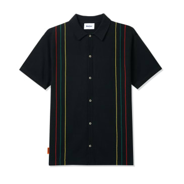 Butter Goods Stripe Knit Shirt - Black