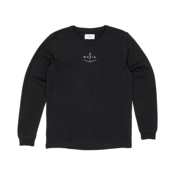 Makia Notch Light Crew Sweatshirt - Black