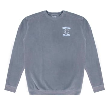 Quartersnacks Ball Is Life Crewneck - Washed Charcoal