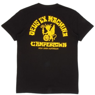 Deus Ex Machina Devil Camperdown T-Shirt - Black